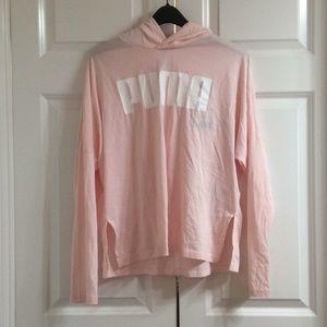 Women's Puma Long Sleeve Shirt Large Pink NWT